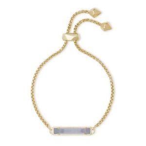 Kendra Scott Stan bracelet Slate Cat's Eye gold NW
